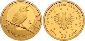 20 Euro 2016 D Deutschland Nachtigall Buch...