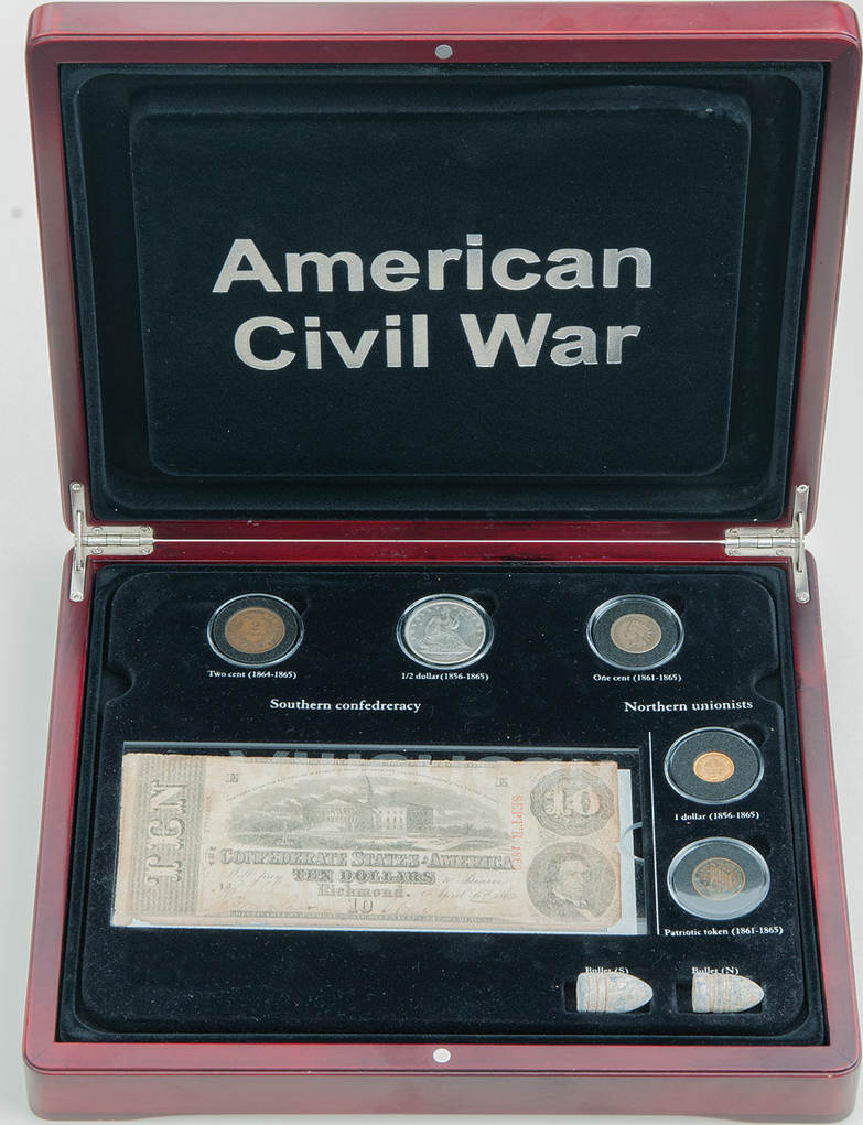American Civil War Set, Usa, 11,53 Dollars 1856-1865