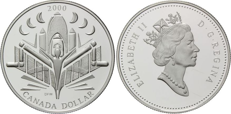 Voyage of Discovery, Kanada, Dollar 2000 Silber