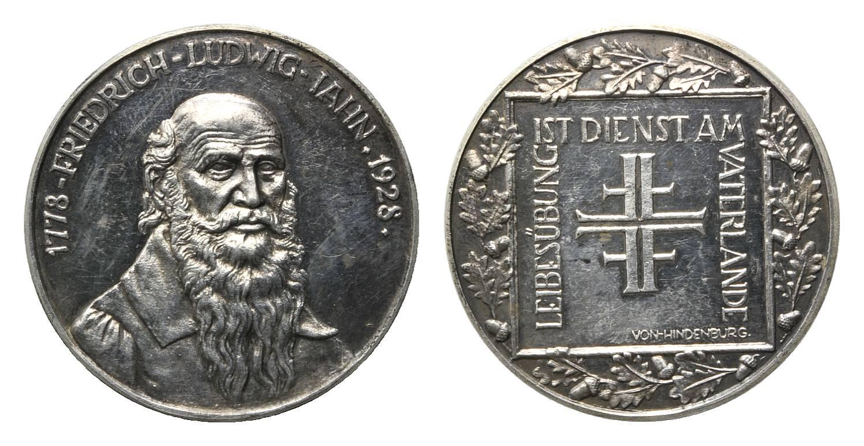 150 Geburtstag Friedrich Ludwig Jahn, Sport, Silbermed von Kittler, 1
