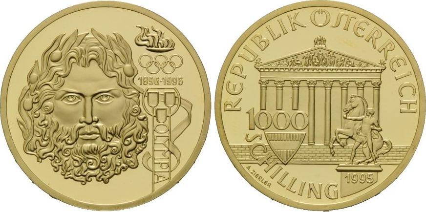 Zeus, Österreich, 1000 Schilling 1995 Gold