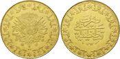 500 Kurush 1293/27=190 Türkei, Abdul Hamid...
