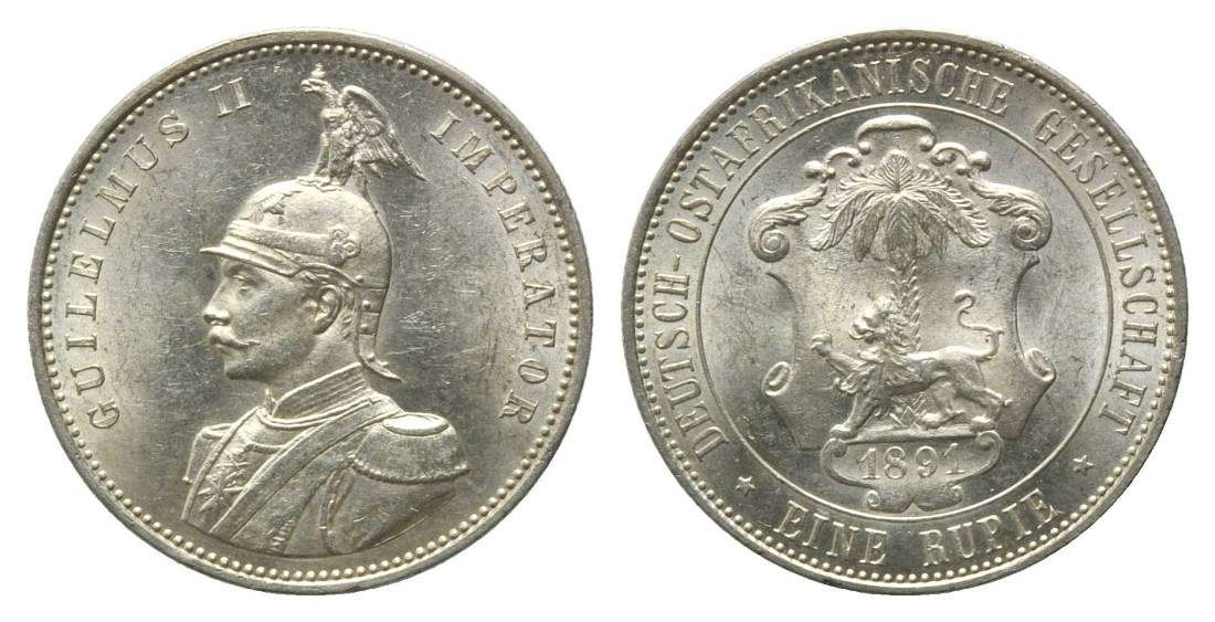 Deutsch-ostafrika, Kolonien, Rupie 1891