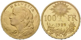 Schweiz, 100 Franken 1925 vz-st