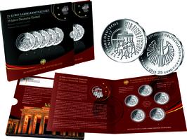 5x 25 Euro 2015 Deutschland, 25 Jahre Deut...
