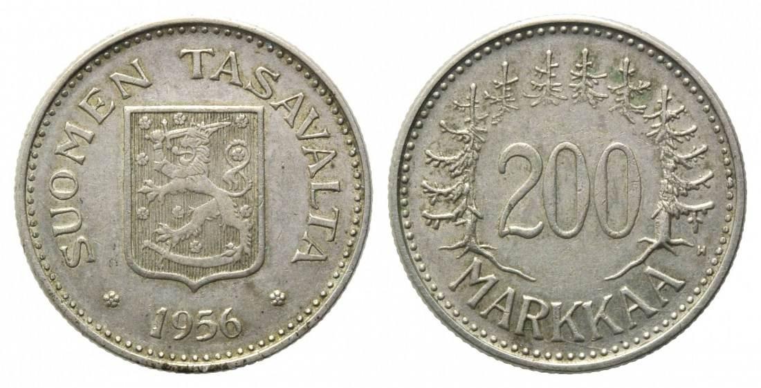 Republik, seit 1917, Finnland, 200 Markkaa 1956