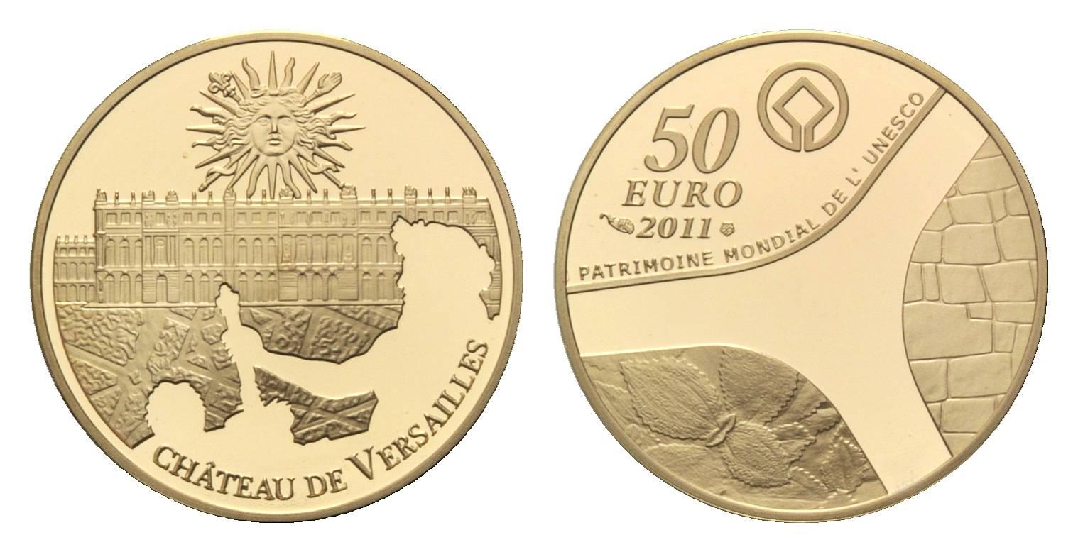 Frankreich, UNESCO - Versailles, 50 Euro 2011, PP