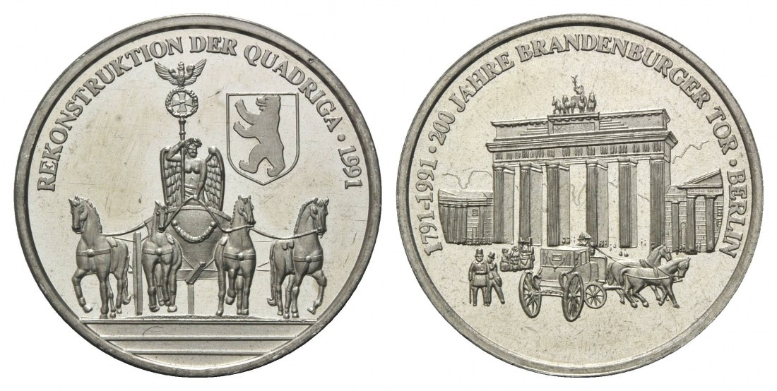 200 Jahre Brandenburger Tor Berlin Rekonstruktion der Quadriga, Deuts