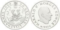 50 Kronen 1992 Norwegen, Olympiade Lillehammer 1994 - Rodeln, PP  35,00 EUR29,00 EUR