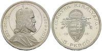 5 Pengö 1938,  Ungarn, 900. Todestag des Hl. Stephan I., st  28,00 EUR  zzgl. 6,40 EUR Versand