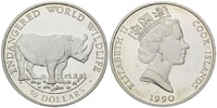 Cook Inseln, 50 Dollars 1990 PP Nashorn - Endangered World Wildlife, 17,00 EUR  zzgl. 6,40 EUR Versand