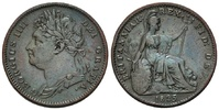 Farthing 1825,  Großbritannien, Georg IV., 1820-1830, f.vz  56,00 EUR  zzgl. 6,40 EUR Versand