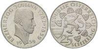 25 Schilling 1959 Österreich, Erzherzog Johann, PP  295,00 EUR