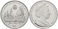 10 Dollars 2005 British Virgin Islands, Admiral Nelson, PP  35,00 EUR