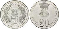 20 Rupien 1973 Indien, FAO - Welternährungstag 1973, st  39,00 EUR29,00 EUR