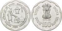 100 Rupien 1980 Indien, FAO - Welternährungstag 1980, st  65,00 EUR