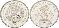 100 Rufiyaa 1980 Malediven, FAO - Kokospalme, st  24,00 EUR