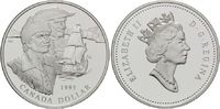 Dollar 1995 Kanada, Hudson Bay - Schiff, PP  25,00 EUR