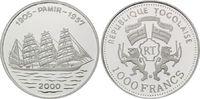 1000 Francs 2000 Togo, Segelschiff Pamir, PP  25,00 EUR