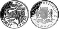 1000 Shillings 2005, Somalia, African Wild...