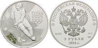 3 Rubel 2014, Russland, Paralympische Spiele in Sotchi 2014 - Eishockey... 54,00 EUR  zzgl. 6,40 EUR Versand