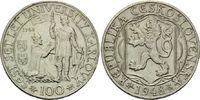 100 Korun 1948, Tschechien,  vz  12,00 EUR  zzgl. 6,40 EUR Versand