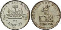 25 Gourdes 1973, Haiti,  vz aus PP, Patina  6,00 EUR  zzgl. 6,40 EUR Versand