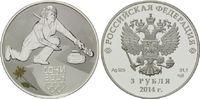 3 Rubel 2014, Russland, Olympiade Sotchi 2014 - Curling, PP  54,00 EUR  zzgl. 6,40 EUR Versand