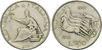 500 Lire 1961, Italien,  ss  8,00 EUR  zzgl. 6,40 EUR Versand