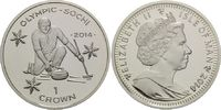 1 Crown 2014, Isle of Man, Olympische Spiele in Sotchi 2014 - Curling, PP  19,95 EUR19,00 EUR  zzgl. 6,40 EUR Versand