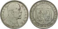 10 Kronen 1928, Tschechoslowakei, Republik, 1918-1939, ss-vz  7,00 EUR  zzgl. 6,40 EUR Versand
