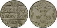 Danzig, 10 Pfennig Freie Stadt, 1920-1939,
