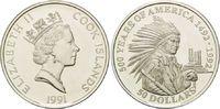 50 Dollars 1991, Cook Inseln, 500 Jahre Entdeckung Amerikas, Indianerhä... 29,00 EUR kostenloser Versand