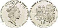 5 Dollars 1989, Tokelau, Entdecker - John Byron, Weltumsegler u. Schrif... 26,00 EUR kostenloser Versand