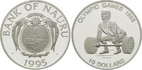 10 Dollars 1995, Nauru, Olympische Spiele Atlanta 1996 - Gewichtheber, PP  26,00 EUR kostenloser Versand