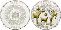 10 Dollars - 1 Unze 2015, Fidschi Inseln, Lunar, Jahr der Ziege mit ech... 89,00 EUR kostenloser Versand