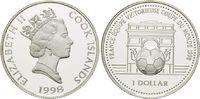 1 Dollar 1998, Cook Inseln, Fußball WM 98 Frankreich, Fußball vor Arc d... 13,00 EUR kostenloser Versand