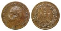2 Öre 1858 LA,  Schweden, Oskar I., 1844-1859, ss  19,00 EUR  zzgl. 6,40 EUR Versand