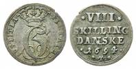 8 Skilling 1694 Dänemark, Christian V., 1670-1699, ss  65,00 EUR  zzgl. 6,40 EUR Versand