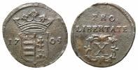 10 Poltura 1705 Ungarn, Ferenc Rákóczi II., 1703-1711, ss-vz  55,00 EUR  zzgl. 6,40 EUR Versand