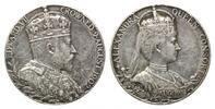 Silbermed. 1902,  Großbritannien, Eduard VII., 1901-1910 Sf., Rdf., ss  65,00 EUR  zzgl. 6,40 EUR Versand