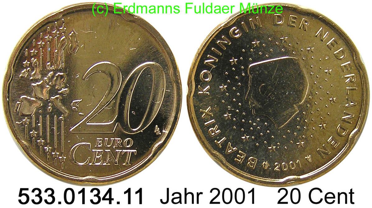 20 cent 2001 niederlande 20 cent unc m nzen. Black Bedroom Furniture Sets. Home Design Ideas