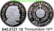 Seychellen 25 Rupees *30a KM28a Thronjubiläum