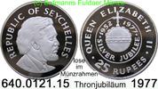 Seychellen 25 Rupees *30a KM28a  Elisabeth II. Thronjubiläum