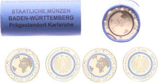 5 Euro Planet Erde - Originalrolle - 25  2...