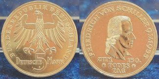 5 Mark Schiller 1955 F Bundesrepublik Deut...
