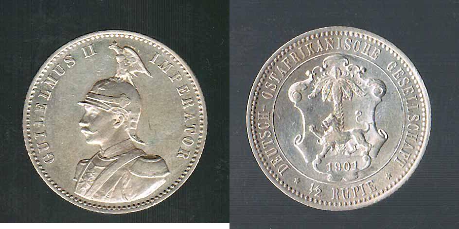 Deutsch-ostafrika 1/2 Rupie 1901 vz Kolonien / Ostafrika