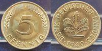 5 Pfennig 1949 F Deutschland 5 Pf.Bank dt.Länder- 1949 F prfr.-st prfr.... 35,00 EUR  +  7,50 EUR shipping