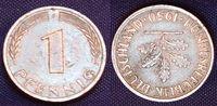 Bundesrepublik Deutschland 1 Pfennig Bundesrepublik Deutschland 1 Pfennig Fehlprägung. 180 Grad Stempeldrehung, ss-vz