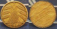Deutschland / Weimar 10 Pfennig 10 Pfennig J.309 Fehlprägung nur Bildseite , einseitige Prägung, ss-vz